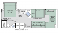2017 Four Winds 26B Floor Plan