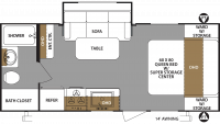 2019 Surveyor Legend 201RBLE Floor Plan