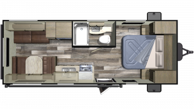 2020 Autumn Ridge Outfitter 21FB Floor Plan Img