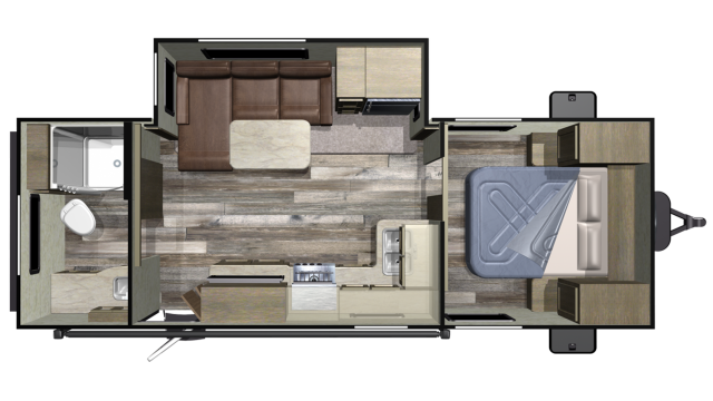2020 Autumn Ridge Outfitter 21RBS Floor Plan