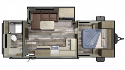 2020 Autumn Ridge Outfitter 21RBS Floor Plan Img