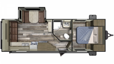 2020 Autumn Ridge Outfitter 23RLS Floor Plan Img