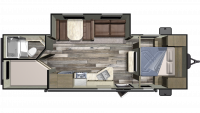 2020 Autumn Ridge Outfitter 26BHS Floor Plan