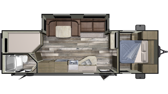 2020 Autumn Ridge Outfitter 27BHS Floor Plan