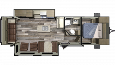 2020 Autumn Ridge Outfitter 27RLI Floor Plan Img