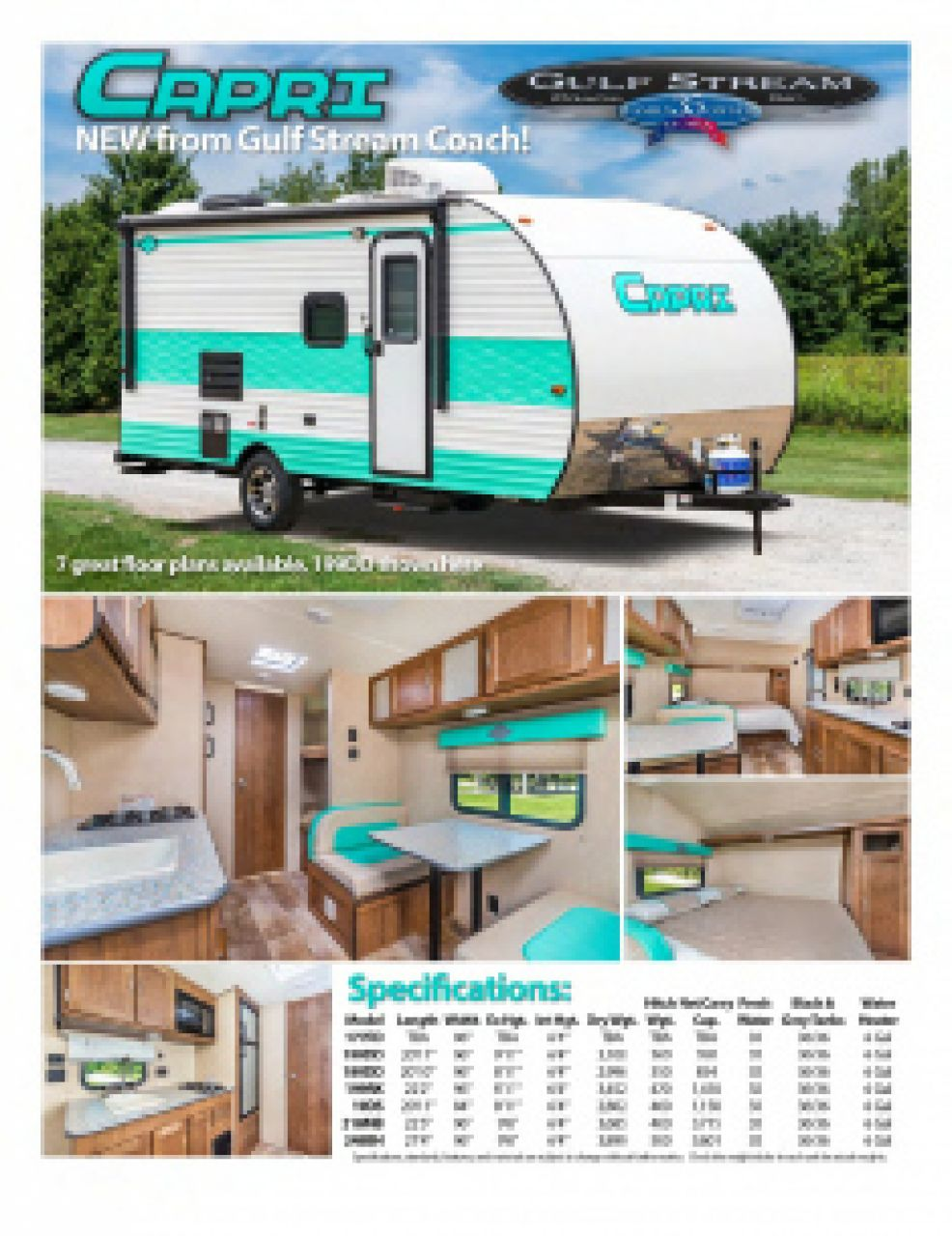 2019 Gulf Stream Capri RV Brochure Cover