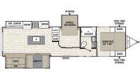 2019 Freedom Express 323BHDS Floor Plan