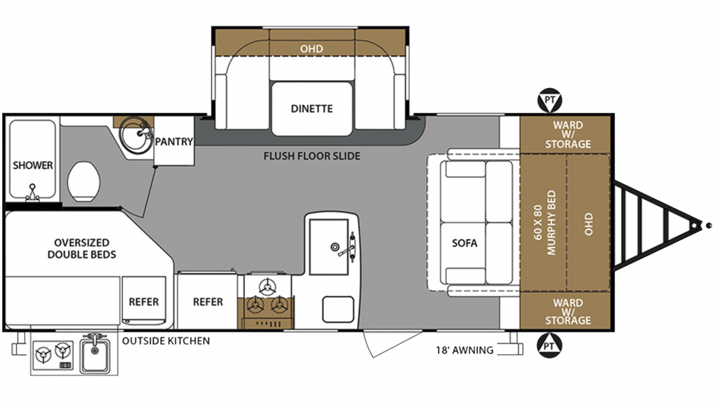 2019 Surveyor Legend 240BHLE Floor Plan Img
