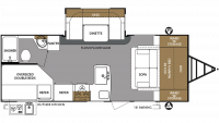 2019 Surveyor Legend 240BHLE Floor Plan
