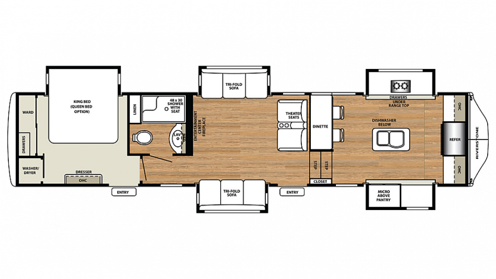2018 RiverStone 39FK Floor Plan Img