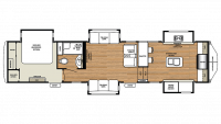 2019 RiverStone 39FK Floor Plan