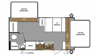 2019 Surveyor Legend 191T Floor Plan