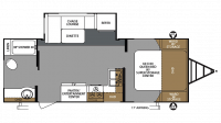 2019 Surveyor Legend 241RBLE Floor Plan