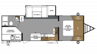 2019 Surveyor Legend 248BHLE Floor Plan