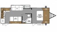 2019 Surveyor Legend 264RKLE Floor Plan