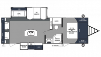 2019 Surveyor Luxury 266RLDS Floor Plan