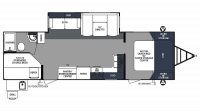 2019 Surveyor Luxury 287BHSS Floor Plan
