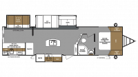 2019 Surveyor Legend 322BHLE Floor Plan