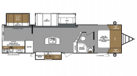 2019 Surveyor Legend 323BHLE Floor Plan