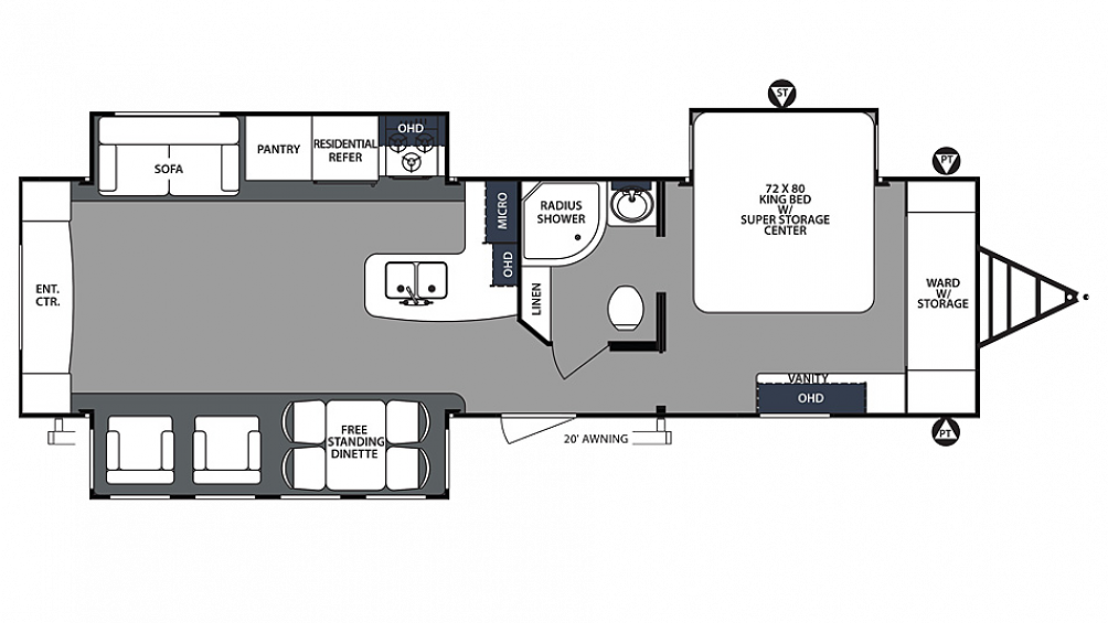 2019 Surveyor Luxury 33KRETS Floor Plan Img