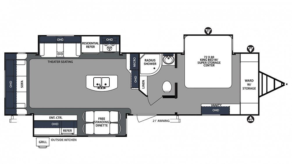 2019 Surveyor Luxury 33KRLOK Floor Plan Img