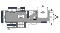2019 Surveyor Luxury 33KRLOK Floor Plan