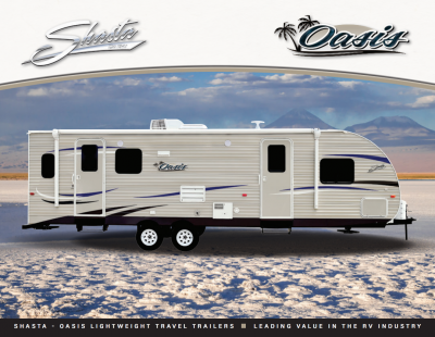 2018 Shasta Oasis RV Brochure Cover