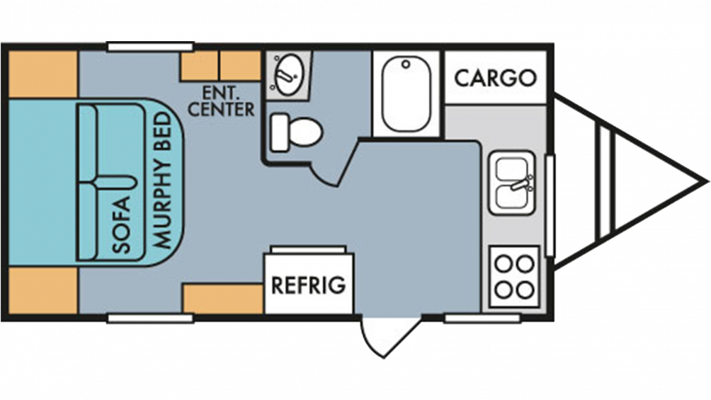 2019 Throwback 177FK Floor Plan Img