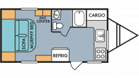 2019 Throwback 177FK Floor Plan