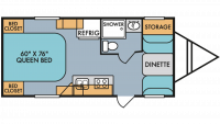 2019 Throwback 179SE Floor Plan