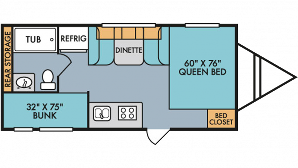 2019 Throwback 190BH Floor Plan Img
