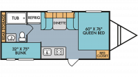 2019 Throwback 190BH Floor Plan