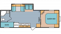 2019 Throwback 526RB Floor Plan