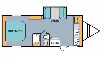 2018 Mt. McKinley 197FK Floor Plan Img