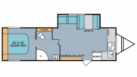 2019 Mt. McKinley 830FK Floor Plan