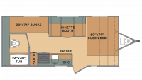 2018 Oasis 18FQ Floor Plan