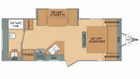 2019 Oasis 21RB Floor Plan
