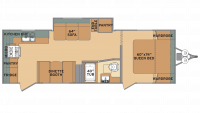 2019 Oasis 25RK Floor Plan