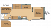 2019 Oasis 26DB Floor Plan