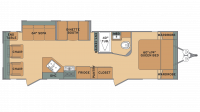 2019 Oasis 26RL Floor Plan