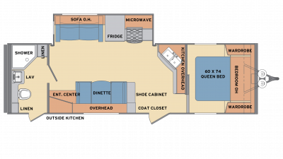 2018 Revere 27RB Floor Plan Img