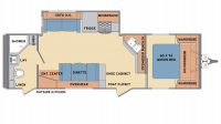 2019 Revere 27RB Floor Plan